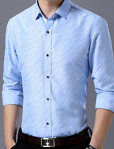 voordelige Herenoverhemden-Heren Grote maten - Overhemd Polka dot Slank Marineblauw