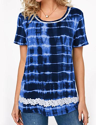 2019 Moda T-shirt Per Donna A Strisce Viola Xxxl #07267406