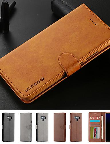 Etui Käyttötarkoitus Samsung Galaxy Note 9 / Note 8 Korttikotelo / Tuella / Magneetti Suojakuori Yhtenäinen Kova PU-nahka