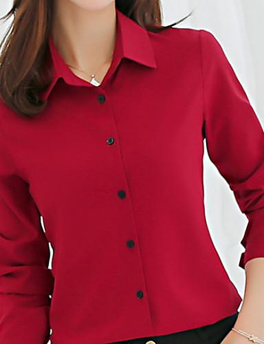 100% Vero Camicia Per Donna Tinta Unita Rosa L #07273205