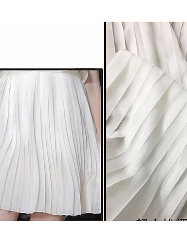 povoljno Wedding Dress Fabric-Chiffon Jednobojni Neelastičan 150 cm širina tkanina za Posebne prilike prodan od 0.5m