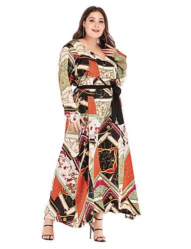 1987d01f1f Women's A Line Dress - Geometric Print Rainbow XXXL XXXXL XXXXXL. $31.45.  USD $21.99 · cheap Plus Size ...