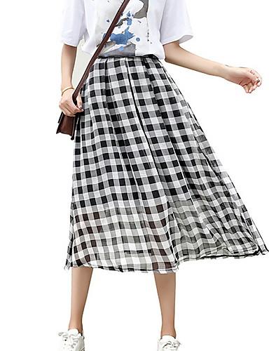ba82fdfc04d4 Χαμηλού Κόστους Γυναικείες Φούστες-γυναικεία φούστες swing midi - ελέγξτε ·  γυναικεία φούστες swing midi - ελέγξτε