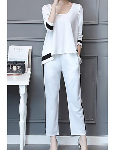 Capace Per Donna Essenziale Set Tinta Unita Pantalone #07229958 Modelli Alla Moda
