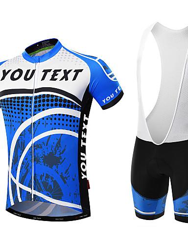 c26b83179 Roupas de Ciclismo Personalizadas Homens Manga Curta Camisa com Bermuda  Bretelle Pontos Moto Conjuntos Respirável Secagem Rápida Bolso Traseiro  Coolmax® ...