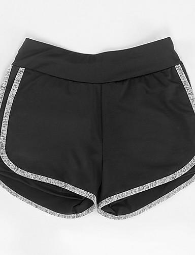 billige Tights til damer-Dame Grunnleggende Tynn Shorts Bukser - Ensfarget Lilla Fuksia Blå S M L