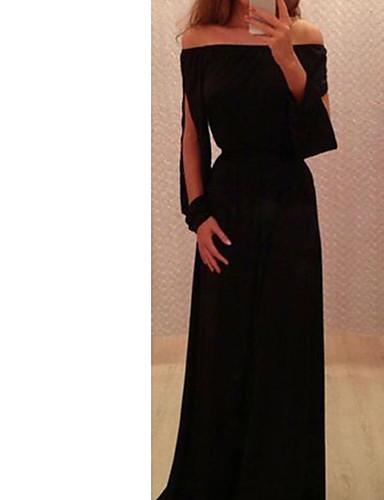 voordelige Maxi-jurken-damessjersey voor dames zwart s m l xl