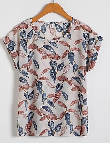 billige Topper til damer-T-skjorte Dame - Geometrisk Navyblå XXL