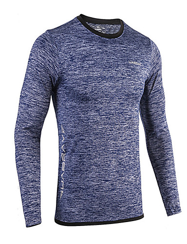 cheap Cycling Clothing-Men's Compression Shirt Long Sleeve Compression Base layer T Shirt Top Breathable Quick Dry Sweat-wicking Comfortable Dark Blue Dark Grey Mineral Green Winter Road Bike Mountain Bike MTB Basketball