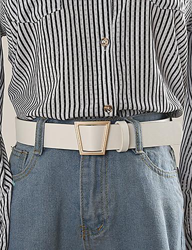 povoljno Ženski modni dodaci-Žene Jednobojni Posao / Osnovni Remen za struk