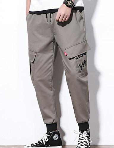 Pánské Základní Kalhoty chinos Kalhoty - Jednobarevné Černá
