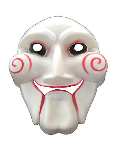 halpa Cosplay ja rooliasut-V for Vendetta Cosplay-Asut Naamio Lasten Aikuisten Miesten Cosplay Halloween Halloween Karnevaali Masquerade Festivaali / loma PVC Valkoinen Karnevaalipuvut Color Block