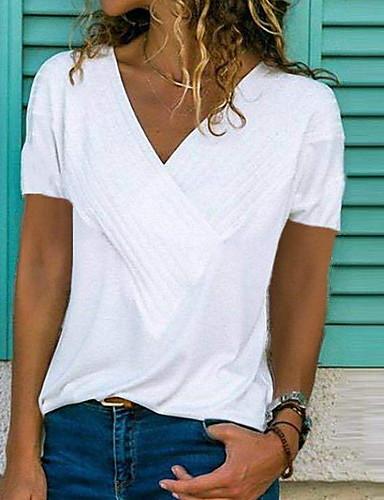 0012651205f4 economico Top e completi da donna-T-shirt Per donna Con balze
