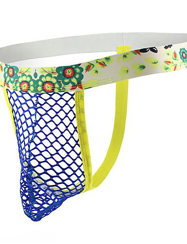 Miesten Polyesteri G-stringin alusvaatteet Silmukka 1 Kappale Matala vyötärö