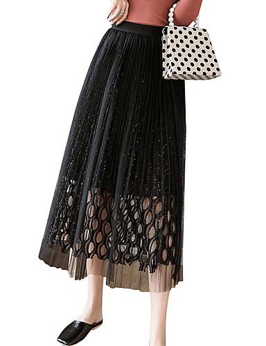 68fc73bd95e6 Χαμηλού Κόστους Γυναικείες Φούστες-γυναικεία midi μια φούστα γραμμή -  συμπαγές χρώμα · γυναικεία midi μια φούστα γραμμή - συμπαγές χρώμα