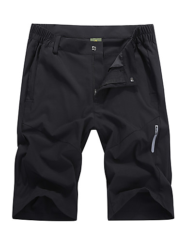 cheap Outdoor Clothing-Men's Solid Color Hiking Shorts Outdoor Breathable Quick Dry Stretchy Comfortable Autumn / Fall Spring Summer Shorts Pants / Trousers Bottoms Beach Camping / Hiking / Caving Traveling Black Dark Grey