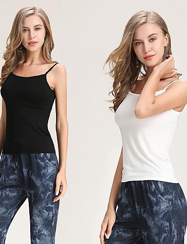 2d4a0531b68c Γυναικεία Αμάνικη Μπλούζα Μονόχρωμο Με σπορ πλάτη Λευκό Ένα Μέγεθος