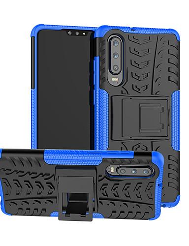 Etui Käyttötarkoitus Huawei Huawei P20 / Huawei P20 Pro / Huawei P20 lite Korttikotelo / Iskunkestävä / Tuella Takakuori Panssari Kova TPU / PC