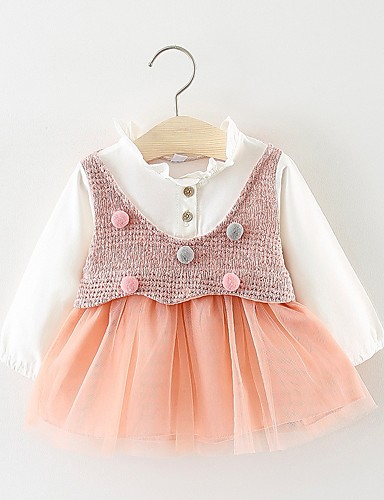 Dresses Girls' Clothing (0-24 Months) pw Sweet Cotton Dress 0-3 Months.