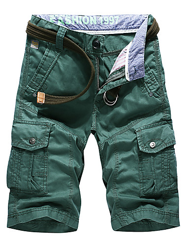 cheap Outdoor Clothing-Men's Solid Color Hiking Shorts Hiking Cargo Shorts Outdoor Breathable Ultra Light (UL) Soft Comfortable Autumn / Fall Spring Summer Cotton Shorts Pants / Trousers Beach Camping / Hiking / Caving