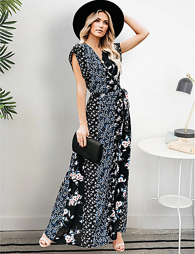 f9d582147 baratos Vestidos de Mulher-Mulheres Básico balanço Vestido - Estampado
