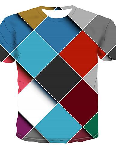 4b867b796105 Ανδρικά T-shirt Συνδυασμός Χρωμάτων   3D   Γραφική Στάμπα Ουράνιο Τόξο XXXXL