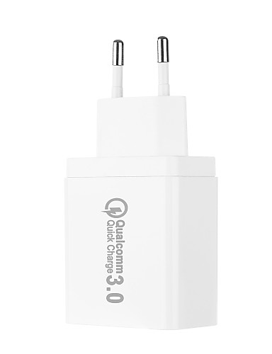 eu plug qc3.0 מהיר USB תשלום רב פלט 3 יציאות USB dc5v 2.1a 100240v מהיר USB תשלום תמיכה טלפון / שולחן והתקנים אחרים