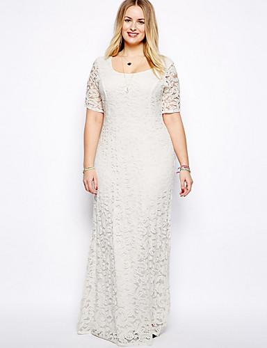 billige Kjoler-kvinners kjole kjole vin hvit svart l xl xxl xxxl