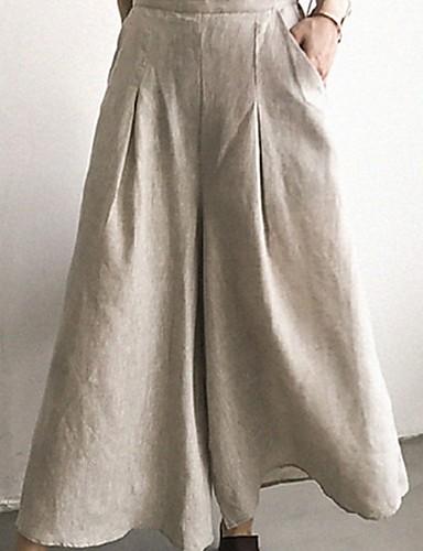 Per Donna Essenziale A Zampa Pantaloni - Tinta Unita Nero #07331922