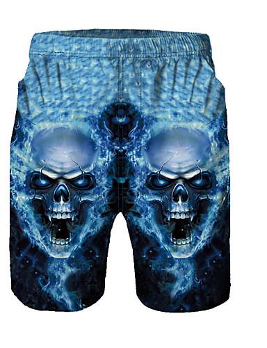 Amichevole Per Uomo Essenziale Pantaloncini Pantaloni - 3d Blu #07332025