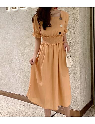 Kadın's Salaş Çan Elbise Askılı Diz-boyu