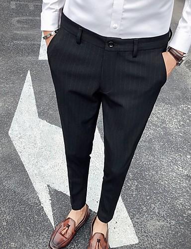 Hombre Básico Chinos Pantalones - Un Color Negro Gris 33 34 36