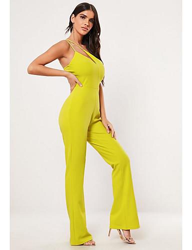 abordables TS@ Ropa-TS@ Mujer Chic de Calle Amarillo Mono, Un Color M L XL