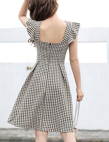 3e44542e6c4dd Women s A Line Dress Black Light Brown L XL XXL