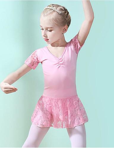 preiswerte Ballettbekleidung-Tanzkleidung für Kinder / Ballett Kleider Mädchen Training / Leistung Elasthan / Chinlon Spitze / Horizontal gerüscht Kleid