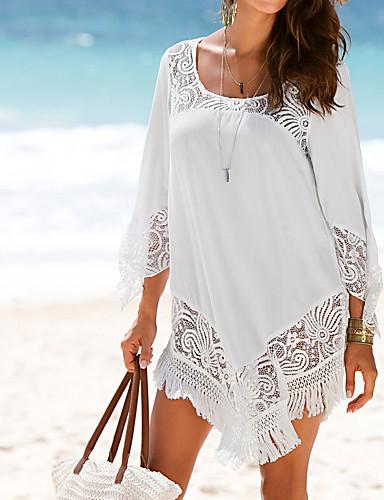 652df426b71d economico Bikini e costumi da bagno-Per donna Essenziale Bianco Nero  Prendisole Costumi da bagno