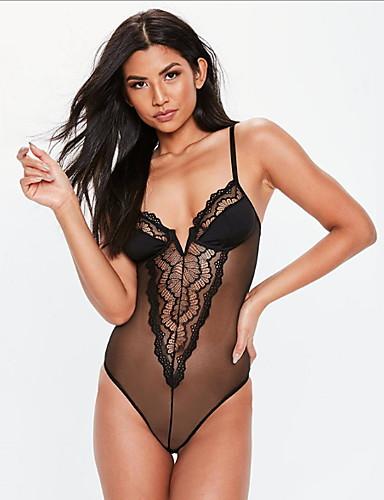 63b363b44f Női Sexy Ultra szexi / Teddy / Body Hálóruha - Csipke Egyszínű / Pántos