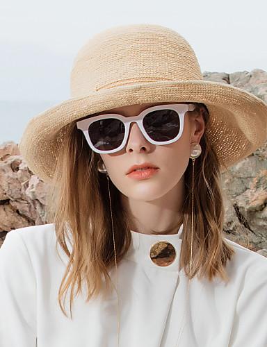 رخيصةأون إكسسوارات-الألياف الطبيعية قبعات القش مع عقدة 1PC فضفاض / مناسب للبس اليومي خوذة