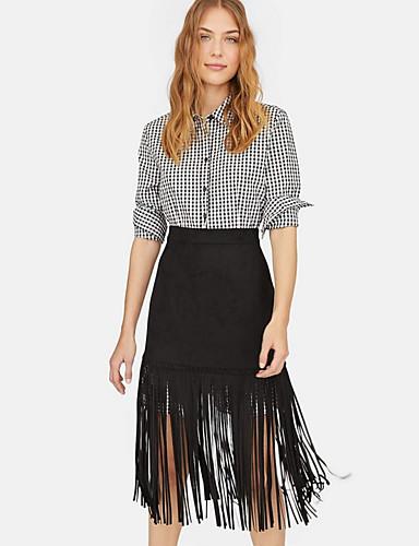 a8c90d432d2 Χαμηλού Κόστους Γυναικείες Φούστες-Γυναικεία Γραμμή Α Κομψό στυλ street  Φούστες - Μονόχρωμο Φούντα