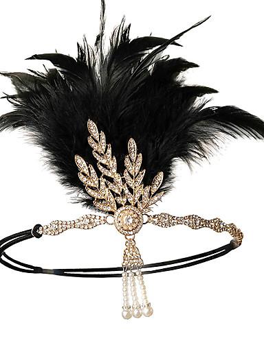 76b566751c6 Charleston Vintage 1920s Den store Gatsby 1920'er pandebånd Dame Kostume  Sort / Rød / Gylden Vintage Cosplay Festival