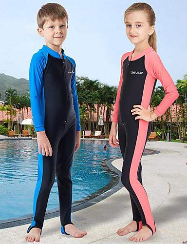 c9a8567381 Boys' Girls' Rash Guard Dive Skin Suit UV Sun Protection Quick Dry Wearable  Chinlon Terylene Full Body Swimwear Beach Wear Diving Suit Patchwork Front  Zip ...