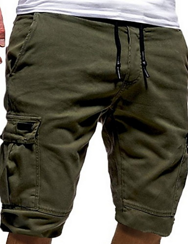 5e788b8d8e Men's Basic Slim Shorts Pants - Solid Colored Dark Gray Army Green Khaki XL XXL  XXXL