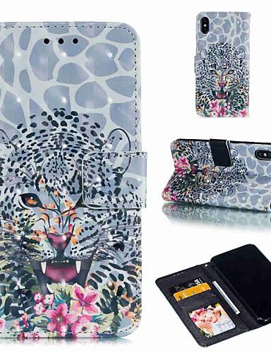 מארז iPhone xs / iPhone xs מקסימום להעיף / עם לעמוד / shockproof גוף מלא מקרים בעלי חיים דפוס קשה עור pu עבור iPhone 6 / 6s פלוס / 7/8 פלוס / xs / x