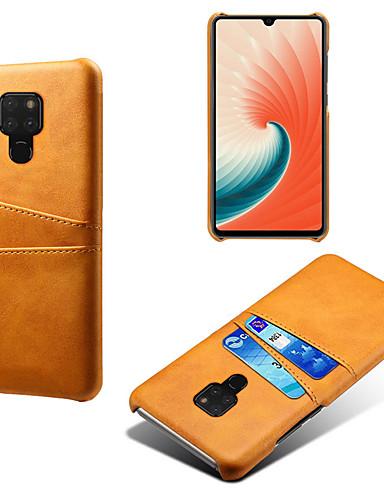 מגן עבור Huawei Huawei P30 Pro / Huawei Mate 20 מחזיק כרטיסים / עמיד לאבק / עמיד במים כיסוי אחורי אחיד קשיח עור PU / PC