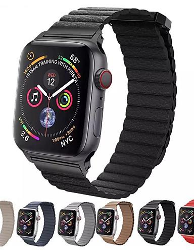 צפו בנד ל Apple Watch Series 4/3/2/1 Apple לולאה מעור עור אמיתי רצועת יד לספורט