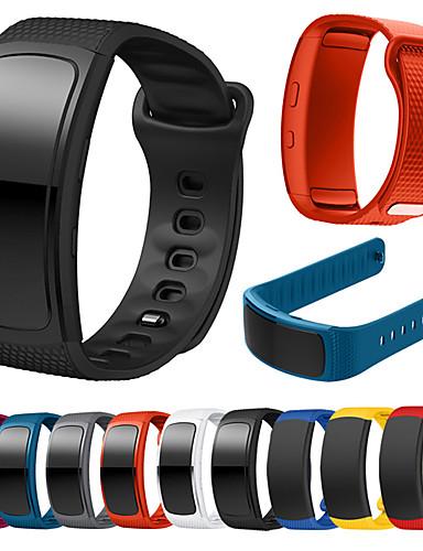 צפו בנד ל Gear Fit Pro / Gear Fit 2 Samsung Galaxy רצועת ספורט סיליקוןריצה רצועת יד לספורט
