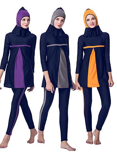a3911565b Swimwear Burkini Women's Ethnic Fashion Festival / Holiday Chinlon Orange /  Gray / Purple Carnival Costumes Solid Colored