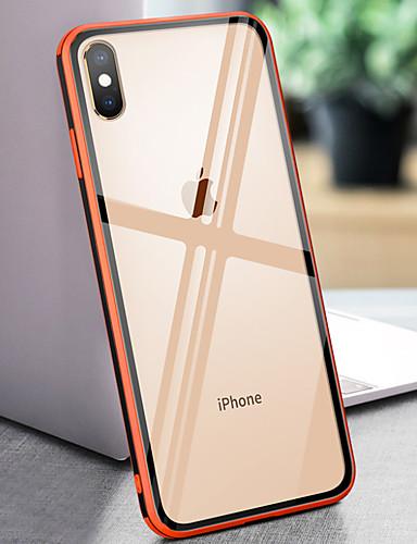 מארז עבור iPhone 6 / iPhone xs מקס המראה האחורי לכסות מוצק צבעוני קשה מזג זכוכית עבור iPhone 6 / iPhone 6 פלוס / iPhone 6s