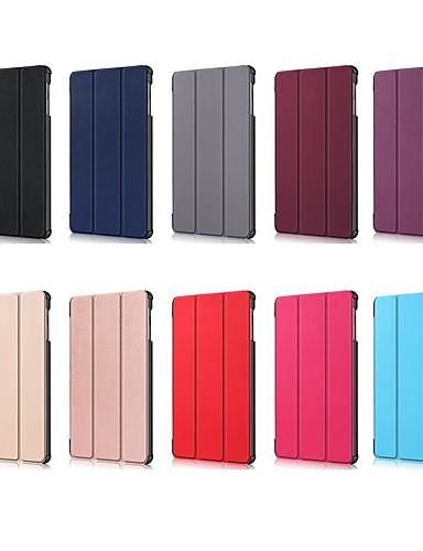 Кейс для Назначение SSamsung Galaxy Samsung Tab S5e T720 10.5 Защита от удара / со стендом / Флип Чехол Однотонный Твердый Кожа PU для Tab S4 10.5 (2018) / Tab A2 10.5(2018) T595 T590 / Samsung Tab