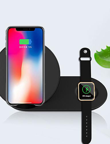 2 ב 1 ניידים ultrathin בטוח עומד המטען האלחוטי טעינה מהירה עבור הטלפון הנייד לצפות